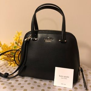 New Kate Spade small dome leather satchel